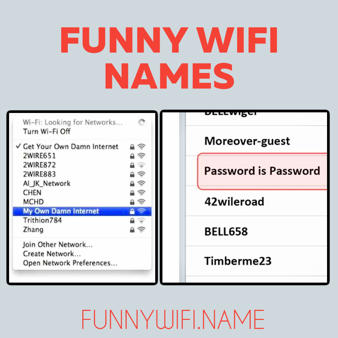 Funny Wifi Names List