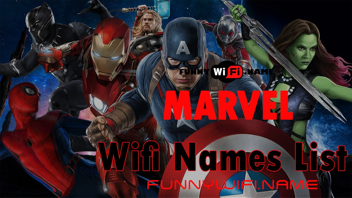 Marvel Wifi Names List For Your Network
